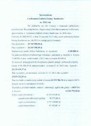 Sprawozdanie z wykonania budżetu Gminy Samhorzec za 2912 rok.