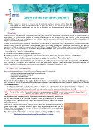 Zoom sur les constructions bois - Espace Info Energie Pays de la Loire