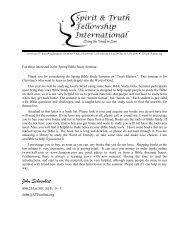 John Schoenheit - Spirit & Truth Fellowship International