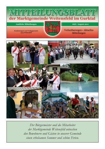 Mitteilungsblatt-05-2011 - Marktgemeinde Weitensfeld
