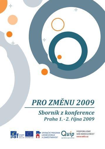 Sborník z konference Pro změnu 2009 - Quip