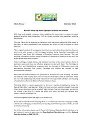 Page 1 Media Release 21 October 2011 National Recycling Week ...