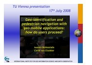 presentation slides - Research Group Cartography