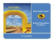 2nd June 2011 GAIL (India) Limited Analyst Presentation FY 2010-11