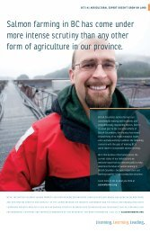 Listening, Learning, Leading - BC Salmon Farmers Association