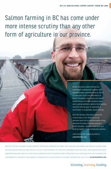Listening, Learning, Leading - BC Salmon Farmers Association