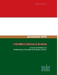 Civil-Military Relations in Indonesia - Pildat.org