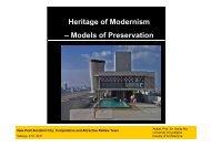Models of Preservation - ReNewTown