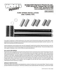 fork spring installation and tuning tips - Works Shocks