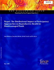 Nepal: The Distributional Impact of Participatory Approaches on ...