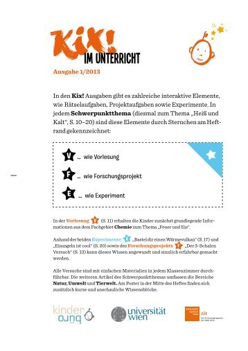 Informationsblatt für den Unterricht (PDF) - Kinderuni