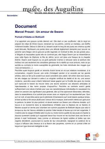 Document Marcel Proust : Un amour de Swann - Edu.augustins.org ...