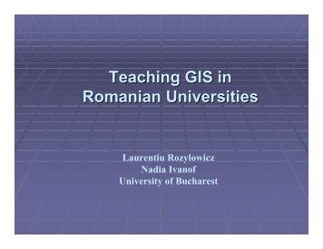 Teaching GIS - HERODOT Network for Geography in Higher ...