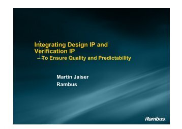 Integrating Design IP and Verification IP