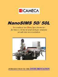 NanoSIMS 50 & 50L Instrumentation - Intercovamex