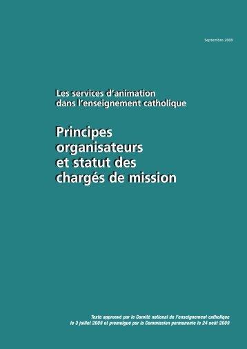 Principes organisateurs et statut des chargés de mission - ECA ...