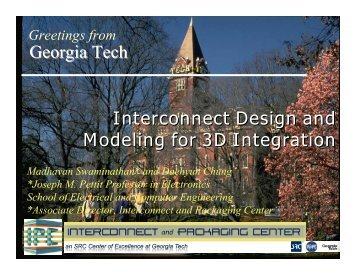 Interconnect Design and Modeling for 3D Integration Interconnect ...
