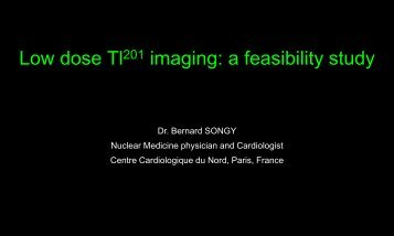 Low dose Tl201 imaging: a feasibility study - scintigraphie tep centre ...