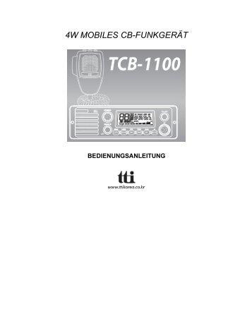 Bedienungsanleitung Manual TTI TCB 1100 (365 KB pdf - Diesnerfunk