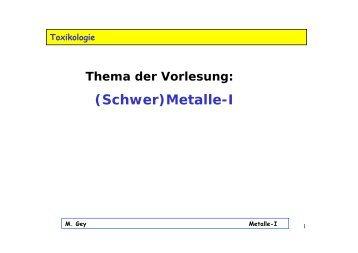 (Schwer)Metalle-I - papa-gey.de