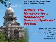 ADRCs: The Keystone for a Rebalanced Community-Based System