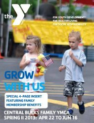spring ii brochure - Central Bucks Family YMCA