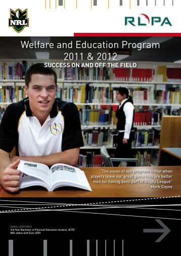 Welfare and Education Program 2011 & 2012 - NRL.com