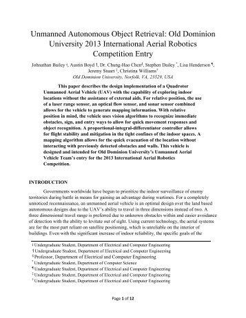 Unmanned Autonomous Object Retrieval - International Aerial ...