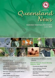 Queensland News - Australian Veterinary Association