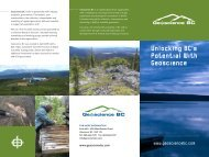 Unlocking BC's Potential With Geoscience - Geoscience BC