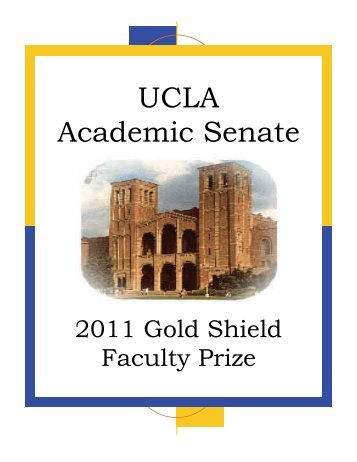 gold shield faculty prize recipients - UCLA Academic Senate