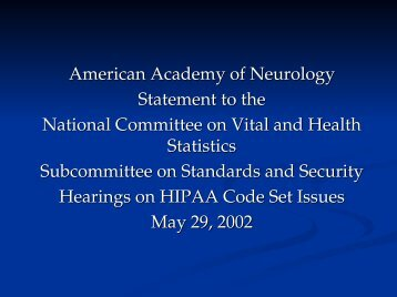 Laura Powers, M.D. - National Committee on Vital and Health Statistics
