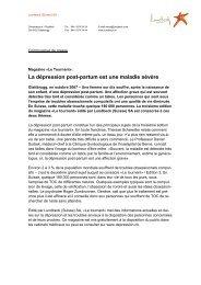 La dépression post-partum est une maladie sévère - Depression.ch