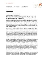 Depressionen: Unterstützung durch Angehörige ... - Depression.ch
