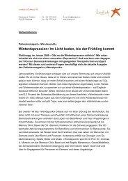 Winterdepression: Im Licht baden, bis der Frühling ... - Depression.ch