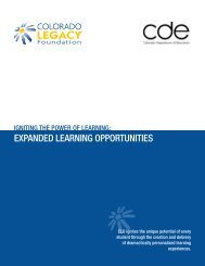 expanded learnIng opportunItIes