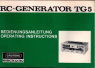 GRUNDIG RC - Generator TG 5