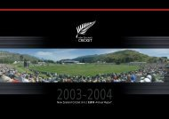 New Zealand Cricket Annual Report 2003 - 2004