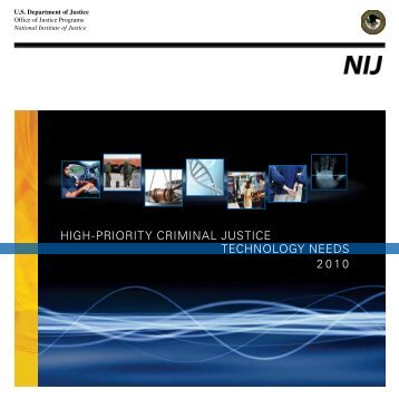 High-Priority Criminal Justice Technology Needs (2010) - National ...