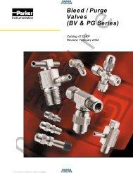 Bleed / Purge Valves (BV & PG Series) - Coast Pneumatics
