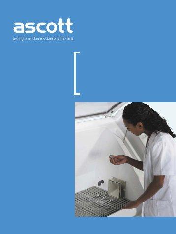 盐雾腐蚀试验箱循环腐蚀试验箱 - Ascott Corrosion Test Chambers