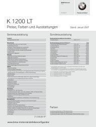 K 1200 LT - BMW Motorrad