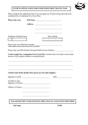 companion card application form vic