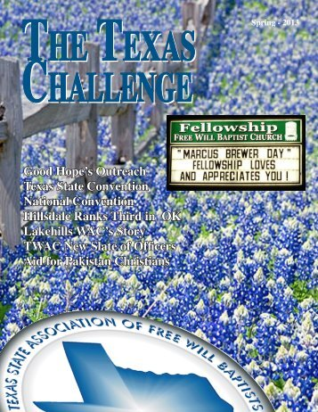 Spring 2013 Texas Challenge - Texas State Association of Free Will ...