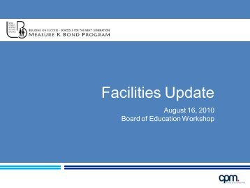 Facilities Update Presentation - Long Beach Unified School District