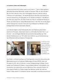 Le Corbusiers Farben und Farbkonzepte Seite 1 ... - kt.COLOR
