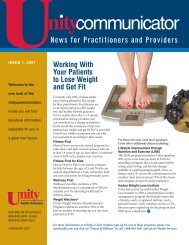 Issue 1, 2007 - Unity Health Insurance