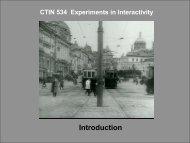 CTIN 544 Experiments in Interactivity - USC Interactive Media Division