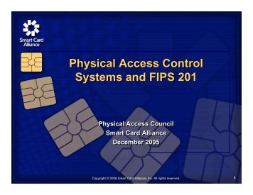 Physical Access Control Systems and FIPS 201 Physical Access ...