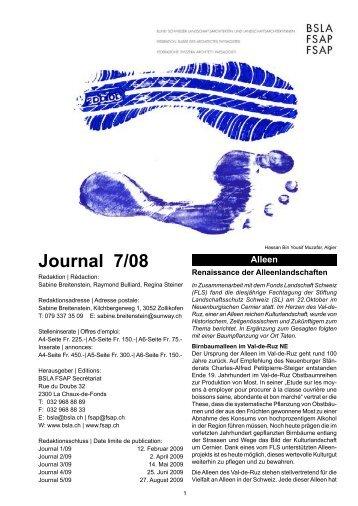 Journal 7/08 - BSLA